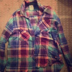 American Eagle Vintage Boyfriend Plaid Shirt